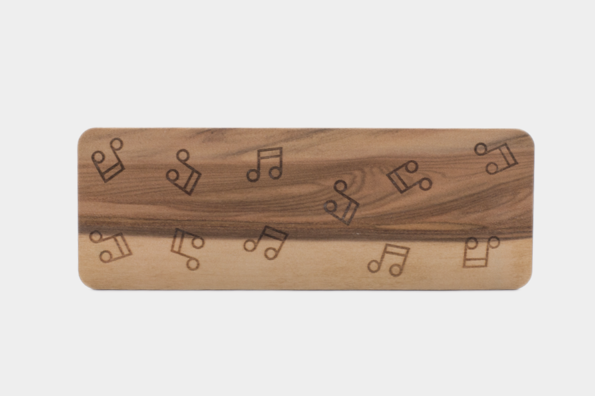 Dřevěná záložka Noty