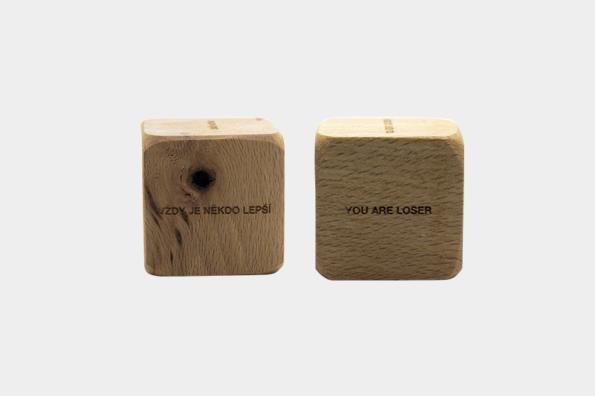Demotivační kostka + Demotovation cube