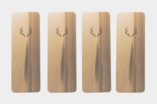 Dřevěná záložka Jelen 4x